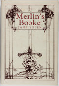 Books:Science Fiction & Fantasy, Jane Yolen. SIGNED/LIMITED. Merlin's Booke. SteelDragon Press, 1986. First hardcover edition, first printing. ...
