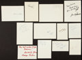 Baseball Collectibles:Others, Misc. Sports Stars Signed Greeting Cards Lot of 12....
