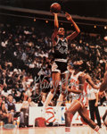 "Basketball Collectibles:Photos, George Gervin ""Iceman"" Signed Photograph - Steiner...."