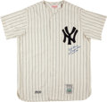 Baseball Collectibles:Uniforms, Don Larsen Signed New York Yankees Mitchell & Ness FlannelJersey....