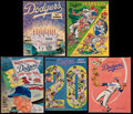 Baseball Collectibles:Programs, 1966-77 Los Angeles Dodgers Yearbooks Lot of 5....