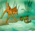 Animation Art:Production Cel, Bambi Courvoisier Production Cel with Background AnimationArt (Disney, 1942)....