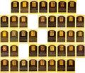 Autographs:Sports Cards, 1970's-2000's Signed Gold Hall of Fame Postcards Lot of 39. ...