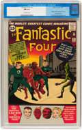 Silver Age (1956-1969):Superhero, Fantastic Four #11 (Marvel, 1963) CGC NM 9.4 Off-white pages....
