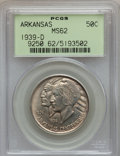 Commemorative Silver: , 1939-D 50C Arkansas MS62 PCGS. PCGS Population (21/668). NGCCensus: (6/427). Mintage: 2,104. Numismedia Wsl. Price for pro...