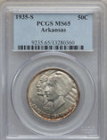 Commemorative Silver: , 1935-S 50C Arkansas MS65 PCGS. PCGS Population (411/178). NGCCensus: (340/113). Mintage: 5,506. Numismedia Wsl. Price for ...