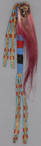 American Indian Art:Beadwork and Quillwork, A SIOUX BEADED HIDE AWL CASE ...