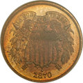 Proof Two Cent Pieces, 1870 2C PR65 Red and Brown NGC....