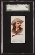 Non-Sport Cards:Singles (Pre-1950), 1887 N28 Allen & Ginter Buffalo Bill Cody SGC 84 NM 7. ...