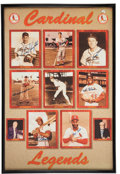 Baseball Collectibles:Others, St. Louis Cardinals Greats Multi Signed Poster....