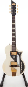 Musical Instruments:Electric Guitars, Late-1950s Supro Dual Tone White Solid Body Electric Guitar, Serial# X70180.. ...