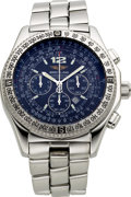 Timepieces:Wristwatch, Breitling A42362 Steel Automatic Chronograph. ...