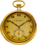 Timepieces:Pocket (post 1900), Vacheron & Constantin Gold Minute Repeating Pocket Watch, circa1918. ...