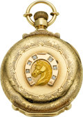 Timepieces:Pocket (pre 1900) , E. Howard & Co. Series VII Gold Multicolor Box Hinge WithDiamonds, circa 1885. ...