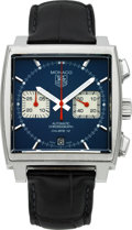 Timepieces:Wristwatch, Tag Heuer Monaco Automatic Steel Chronograph. ...