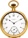 Timepieces:Pocket (pre 1900) , Patek Philippe & Co. Large Gold Pocket Watch, circa 1893. ...