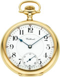 Timepieces:Pocket (post 1900), Waltham Gold 21 Jewel 16 Size Riverside Maximus, circa 1900. ...