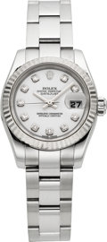 Timepieces:Wristwatch, Rolex Ref. 179174 Lady's Diamond Dial Oyster Perpetual Datejust,circa 2005. ...