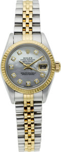 Timepieces:Wristwatch, Rolex Ref. 79173 Lady's Two Tone Diamond & Pearl Dial, circa2002. ...