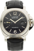Timepieces:Wristwatch, Panerai PAM 00180 White Gold Limited Edition Luminor Marina 153/200. ...