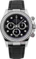 Timepieces:Wristwatch, Rolex Ref. 116589 White Gold & Diamond Daytona, circa 2001. ...