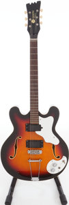Musical Instruments:Electric Guitars, Circa 1968 Mosrite Combo Sunburst Semi-Hollow Body Guitar, Serial #K0949.. ...