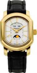 Timepieces:Wristwatch, Tiffany & Co. Gold Automatic Triple Calendar With Moon Phase. ...