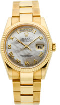 Timepieces:Wristwatch, Rolex Ref. 18238 Gent's Day-Date President Mother-of-Pearl Dial, circa 2001. ...