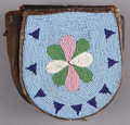 American Indian Art:Beadwork and Quillwork, A PLATEAU BEADED LEATHER BELT POUCH. c. 1890 ...