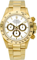 Timepieces:Wristwatch, Rolex Ref. 16528 Very Fine Gold Oyster Perpetual Cosmograph Daytona, circa 1995. ...