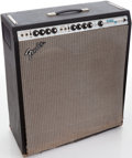 Musical Instruments:Amplifiers, PA, & Effects, Early 1970s Fender Bassman Ten Black Guitar Amplifier, Serial #A771236....