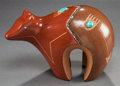 American Indian Art:Pottery, A SAN ILDEFONSO POLYCHROME BEAR. Russell Sanchez. c. 2000. ...