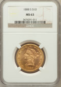 Liberty Eagles: , 1888-S $10 MS63 NGC. NGC Census: (76/6). PCGS Population (133/3).Mintage: 648,700. Numismedia Wsl. Price for problem free ...