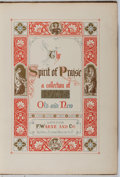 Books:Music & Sheet Music, [Hymnal]. The Spirit of Praise. Warne, [n. d.]. Full moroccoby Bain with minor wear. Spine leaning and joints c...
