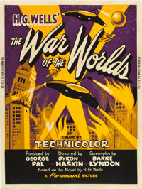 """The War of the Worlds (Paramount, 1953). Poster (30"""" X 40"""") Style Y"""