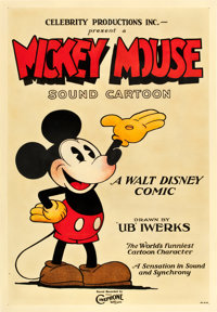 "Mickey Mouse Stock Poster (Celebrity Productions, 1928). One Sheet (27"" X 41"")"