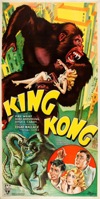 "King Kong (RKO, 1933). Three Sheet (40.25"" X 79"") Style B"