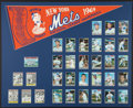 Baseball Collectibles:Others, 1969-73 Mets Pennant and Baseball Card Sets - Lot of 2. ...