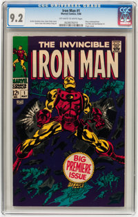 Iron Man #1 (Marvel, 1968) CGC NM- 9.2 Off-white to white pages