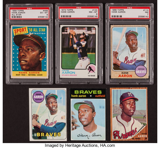 1958 1973 Topps Hank Aaron Card Collection 6