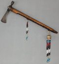 Paintings, A PLAINS PIPE TOMAHAWK. c. 1900...