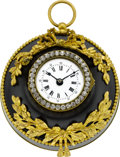 Timepieces:Clocks, French Small Ornamental Wall Clock. ...