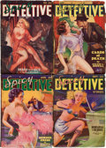 Pulps:Detective, Spicy Detective Stories Group (Culture, 1935-36) Condition: AverageVG-.... (Total: 4 Items)
