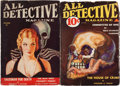 Pulps:Detective, All Detective Magazine Group (Dell, 0) Condition: Average VG-....(Total: 2 Items)