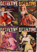 Pulps:Detective, Spicy Detective Stories Group (Culture, 1936-37) Condition: Average VG-.... (Total: 4 Items)