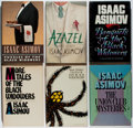 Books:Mystery & Detective Fiction, [Jerry Weist]. Isaac Asimov. Group of Six Books, Five First Editions. Doubleday, 1974-1990. Azazel is a third printing. ... (Total: 6 Items)