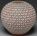 American Indian Art:Pottery, AN ACOMA POLYCHROME JAR . E. V. Antonio...