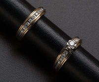 Diamond Gold Wedding Set