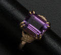 Estate Jewelry:Rings, Purple Amethyst Gold Ring. ...