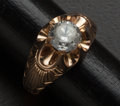 Estate Jewelry:Rings, CZ Stone With 10k Gold Mounting. ...